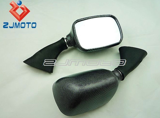 Motorcycle Rear Mirror for 1999-2007 GSX 600 750 1000 1300 Hayabusa Carbon Racing Mirror OEM Replacement side Mirror