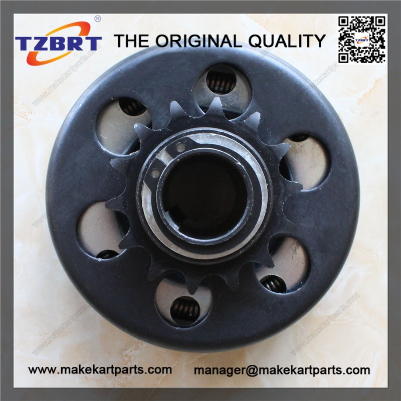 Motorcycle driven clutch with 14 tooth 25mm bore