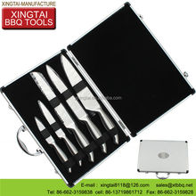 with aluminum case knife and fork bbq set
