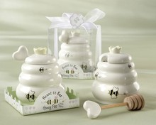 White bee honey pot <strong>wedding</strong> favors souvenirs <strong>wedding</strong> gifts for guests