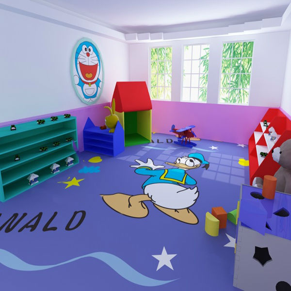 kinderzimmer cartoon bodenbelag vinyl plastikboden produkt. Black Bedroom Furniture Sets. Home Design Ideas