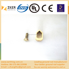 copper sheet small wire earth rod clamp 3/8