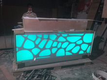 Led light bar counters artificial stone solid surface modern reception ,acrylic solid surface bar counter,reception desk counter