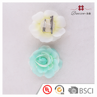 Fancy Wholesale Wedding Hair Accessories Artificial Silk Flower Hair Clips with Brooch