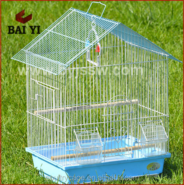 Chinese Wholesale Customized Galvanized Wire Mesh Metal Chrome Bird Breeding Cage(wholesale,good quality,Made in China)