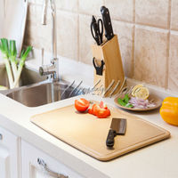 Easy Clean Antibacterial and Eco-Friendly Cutting Board Set made of Natural Rice Husk Fiber with Silver Nano Technology