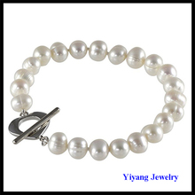 Freshwater Pearl Bracelet Natural Color Bear Charm Jewelry