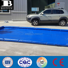 durable thick PVC trucks and cars inflatable wash mats with a complete water containment system