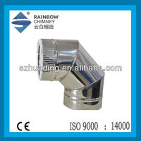 CE/UL stainless steel elbow chimney flue pipe for fireplace