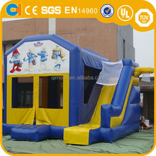 Mini Inflatable bouncer/bouncy /jumping castle with slide for kids games and party