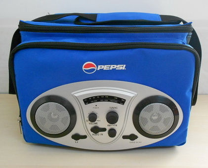 promotional cooler box bag with speaker