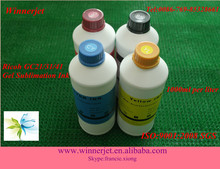High Color Density 500Ml/1000Ml/5L Compatible Printer Cartridgs For Ricohk Sublimation Ink For Ricoh