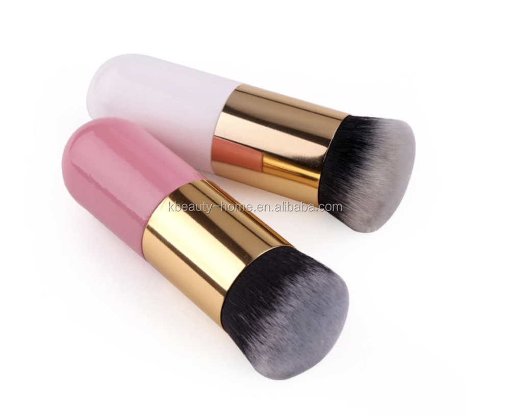 hot sell wholesale fat handle real cosmetics brushes private label blusher brush make up set from China factory