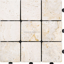 Foshan supplier cheap price decking natural travertine stone floor tile