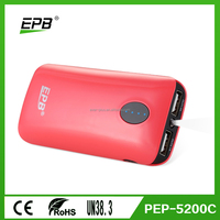 Original battery 5200mAh/6000Mah/6800mah portable mobile charger,LED torch and colorful power bank