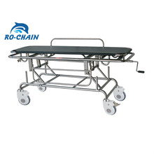 New arrival high quality stainless steel stretcher patient trolley