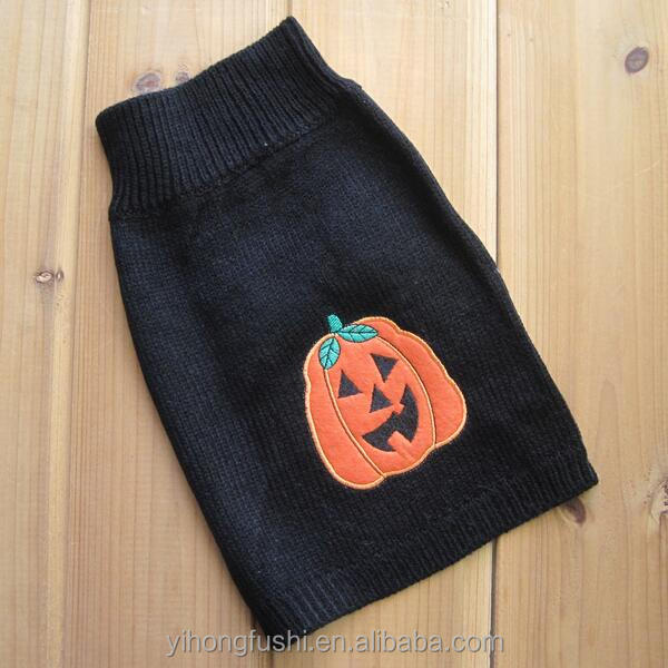 Calabaza de halloween disfraces pet dog cachorro extractor clothes suéter