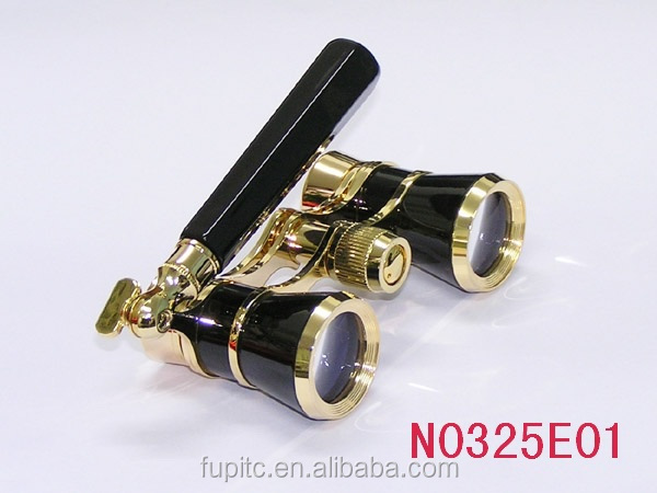 3x25 Broadway 325 Opera Glasses w/ LED light (black lorgnette)