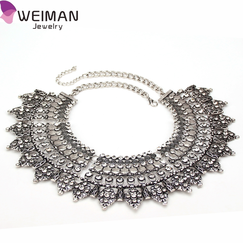 Retro Boho Tribal Tassel Collar Chain Chunky Pendant Statement Necklace