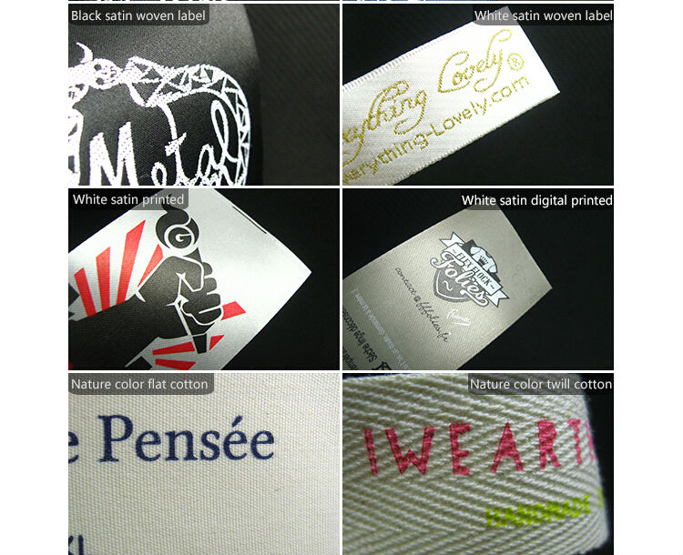 jeans dresses clothing custom woven label in your logo
