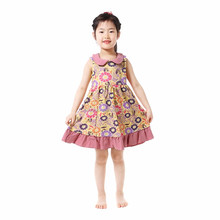 Boutique cotton baby <strong>girl</strong> summer <strong>dress</strong> sleeveless one pieces flower <strong>girl</strong> <strong>dress</strong>