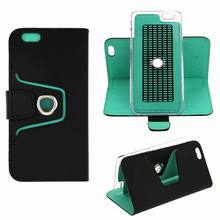 mobile phone leather stand case for iphone 6 wallet leather custom flip case cover