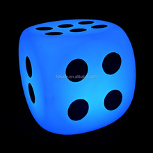 led ice cubes Hot sale LED light dice plastic stool with remote control