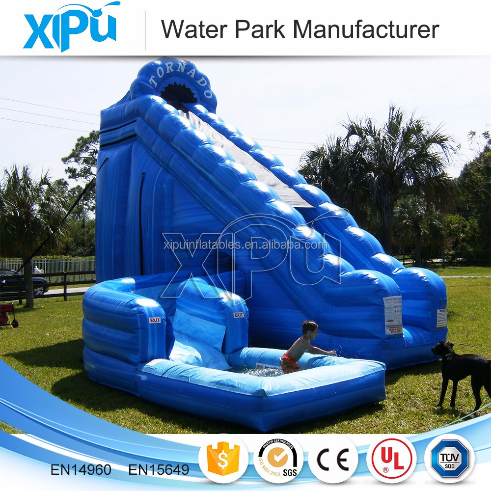 Cheap wahoo inflatable water slide, inflatable water slide with pool