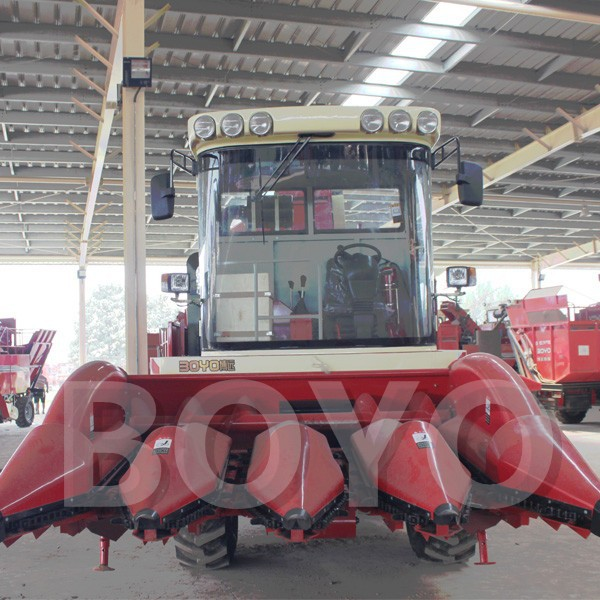 4 row combine corn head harvester