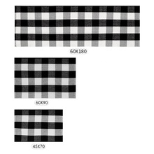 Chinese cotton woven black and white buffalo plaid rugs checker pattern big floor mat buffalo check carpet