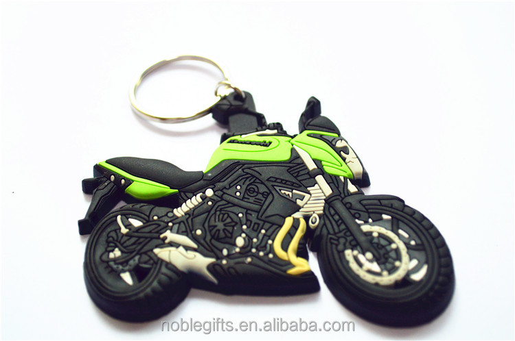 2016 Fashion Colorful Soft PVC/ Rubber motorcycle Keychain