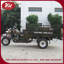 Guangzhou factory 200cc strong engine motorcycle three wheel double level cargo