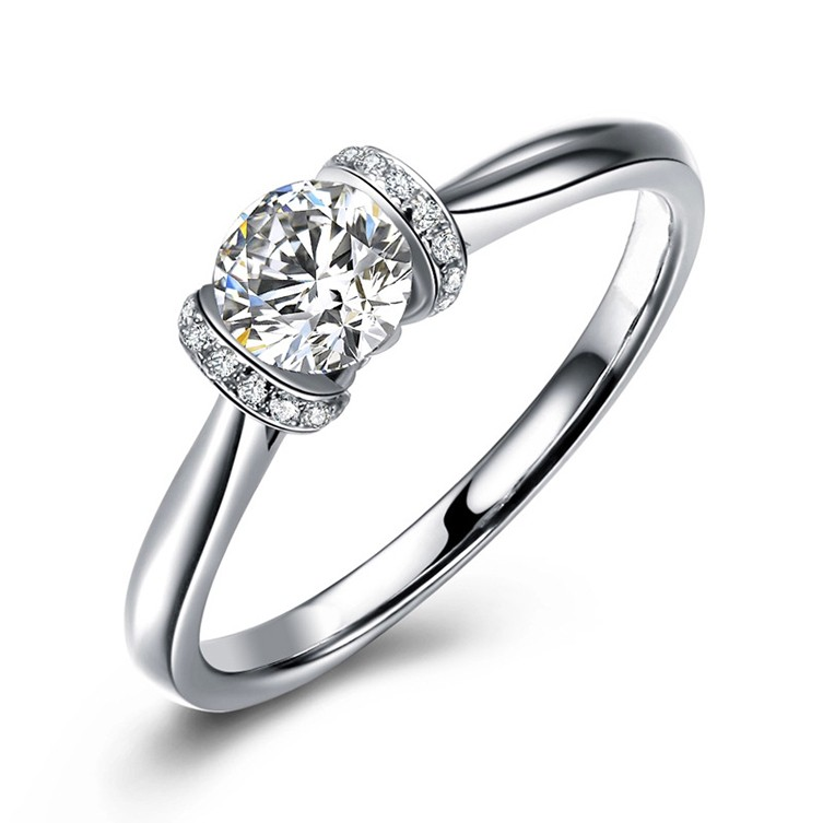 Gemnel jewelry fashion single stone ring wedding ring for women