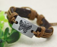 Wholesale Mixed Adjustable 1.4*17cm engraved butterfly glow cuff bracelet blood pressure bracelet