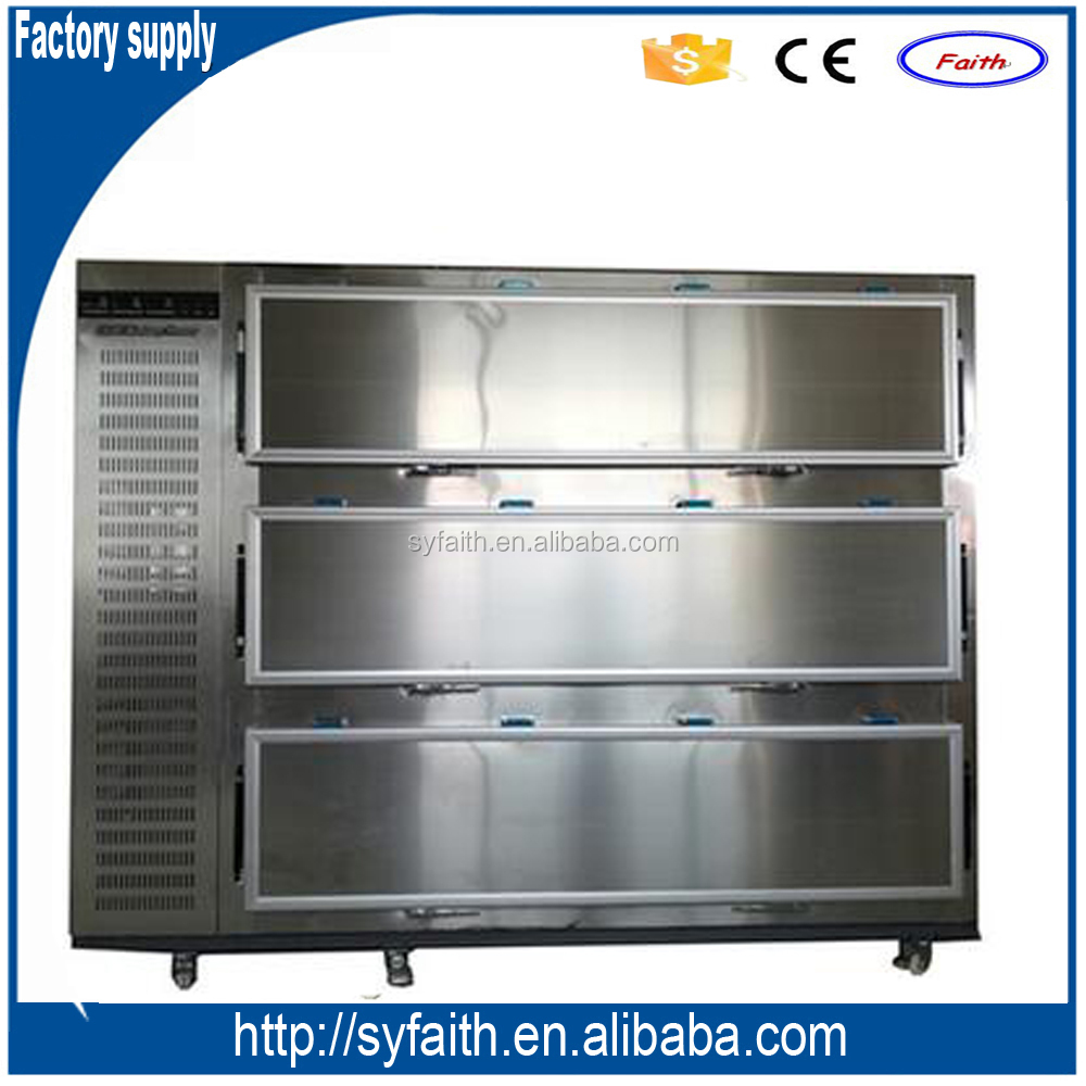 Morgue equipment / 3 bodies side door mortuary freezer