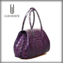 Big discount fashion genuine crocodile skin fancy leather bags