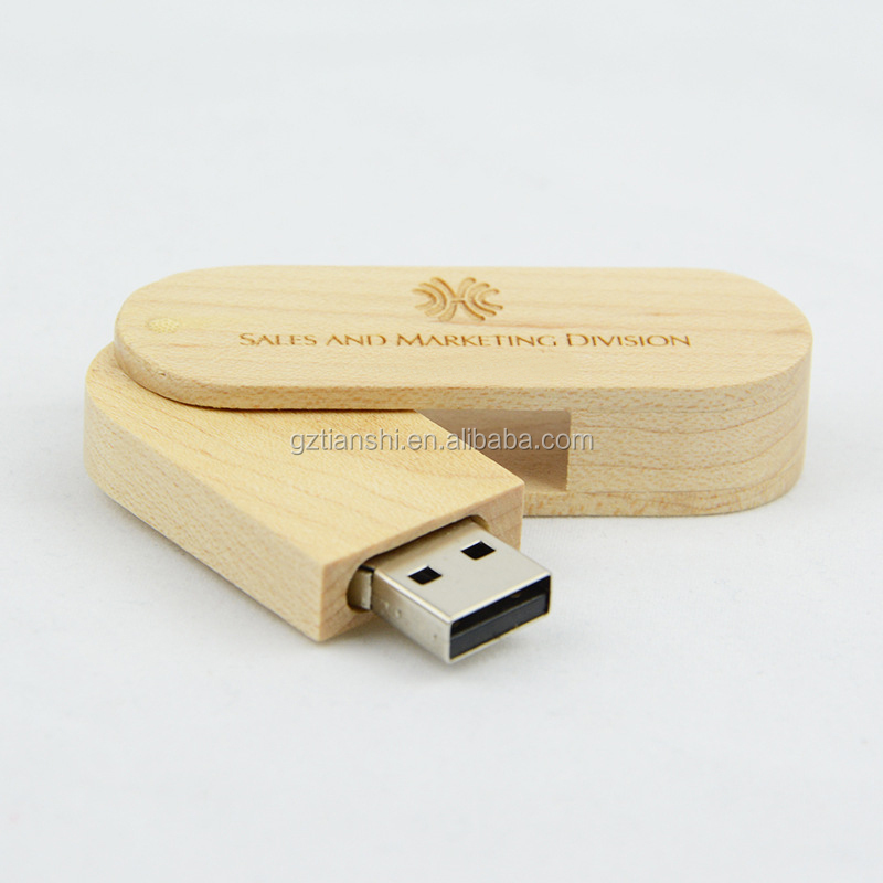 Custom logo mini wooden usb flash in bulk 4gb 8gb usb flash drive