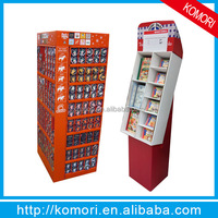 China Wholesale Retail Shop 4 Tiers Corrugated Cardboard Floor Display