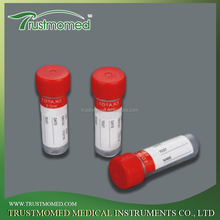 Disposable non-vacuum blood collection tube Red Plain tube