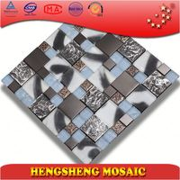 sticker material design ceramic high quality china glass mosaic kitchen wall tile