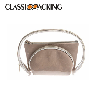 Luxury wholesale toiletry pouch hanging see through cosmetic bag