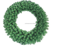 PVC artificial indoor home decoration christmas garland wreath christmas tree garland ornaments wreath 30inch xmas wreath