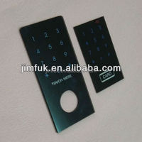 Touch control password lock tempered glass panel