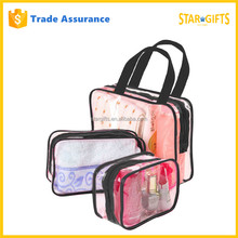 China Manufacturer Custom 3 Piece New Style Tote Toiletry Bag