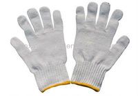 White cotton grip gloves