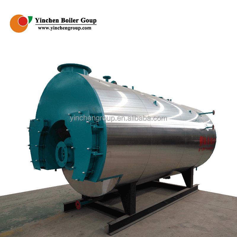 Yinchen Factory Outlets Wet back structure 1000kg/hr Oil Gas fired boiler for mixing plant industry