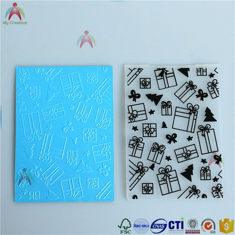 2017 PP Merry Christmas plastic embossing folder for scrapbooking
