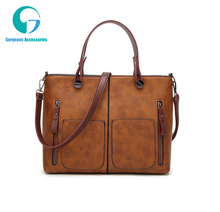 Vintage Women Shoulder Bag Female Causal <strong>Totes</strong> for Daily Shopping All-Purpose High Quality Dames Handbag GS181051