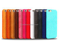 In store wholesale price embossed logo colorful slim pu leather case cover for Apple iphone 6/6s