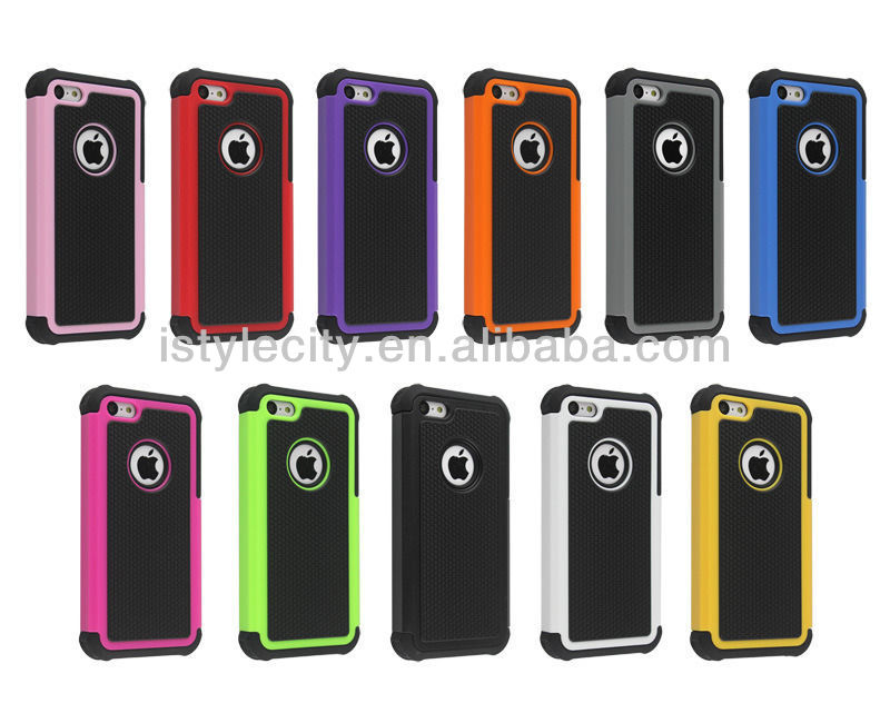 Hybrid Rugged Rubber Matte Hard PC Soft Silicone cheap Case Cover for iPhone 5 5S 5G